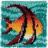 "Wonderart Angel Fish Latch Hook Kit, 12"" X 12"""