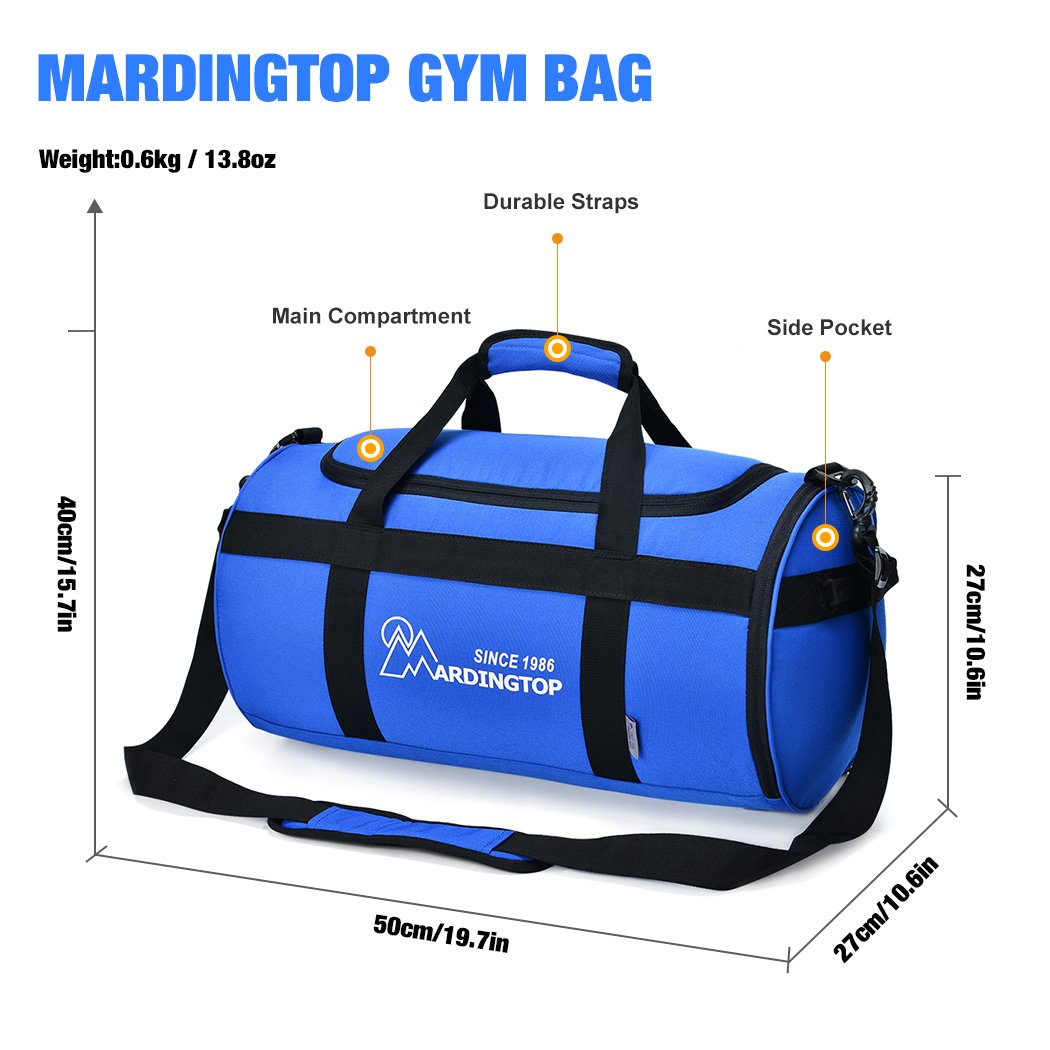 Mardingtop Lightweight Duffel Bag Travel Luggage Weekend Overnight Bags Gym For Sports Traveling Vacation Grey Amazoncouk Clothing