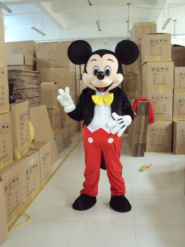 Mickey Mouse Ace Mickey Mascot Costume Cartoon Character Adult Size