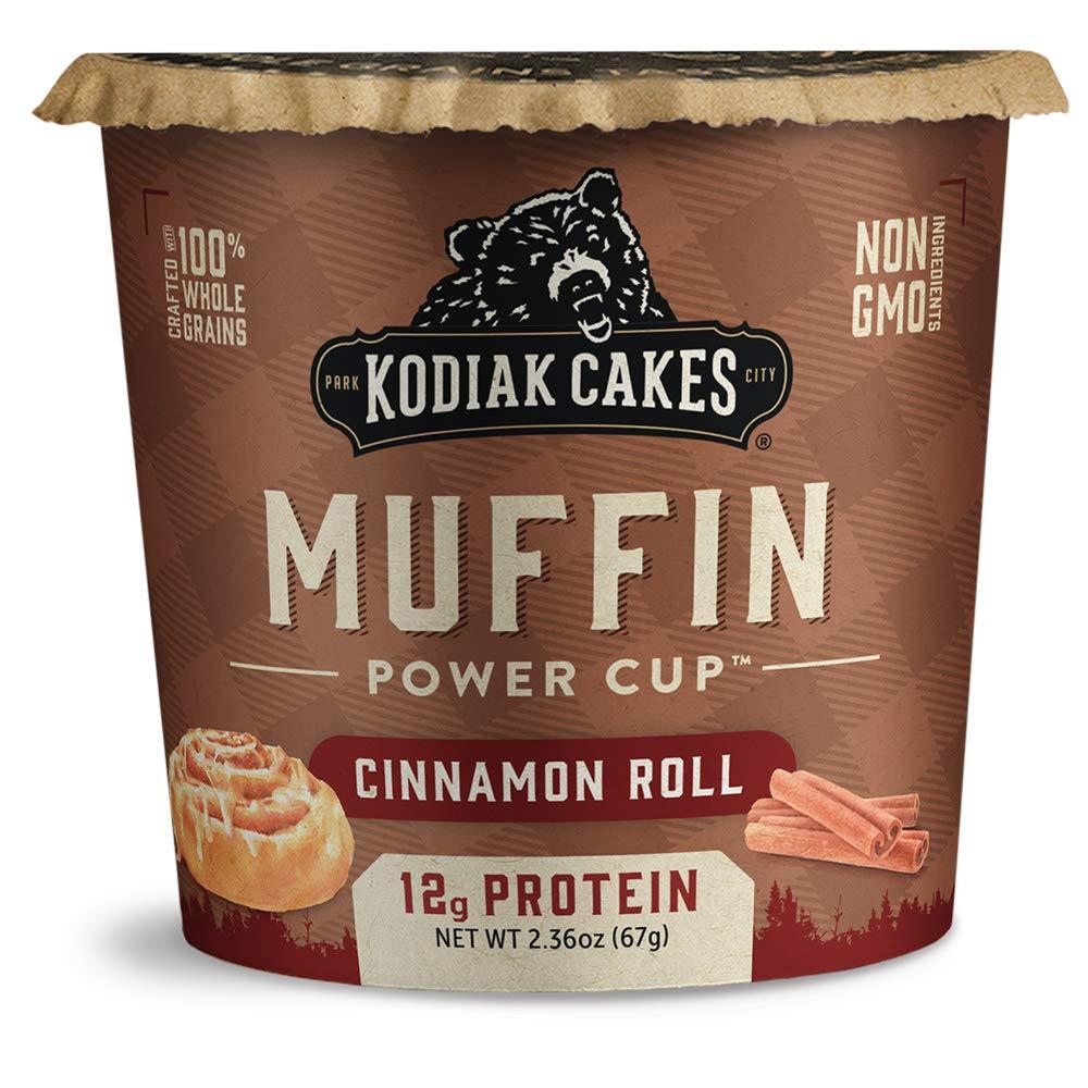 Kodiak Cakes Minute Muffins, Cinnamon Roll, 2.29 Oz (Pack of 12)