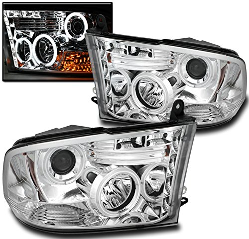 ZMAUTOPARTS Dodge Ram 1500 1500/+ 2500/3500 CCFL Halo LED DRL Projector Headlights Chrome