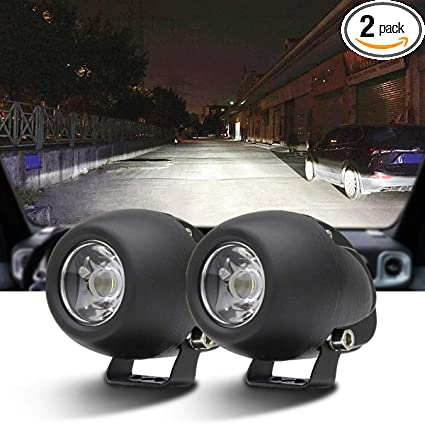 2PACK 12W LED Spot POD RACE LIGHTS Off Road Motorcycle Dirt Bike Fog Driving Work Lights 1200LM IP68 WATERPROOF 24 Months Warranty