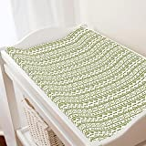 Carousel Designs Sage Baby Aztec Changing Pad Cover - Organic 100% Cotton Change Pad Cover - Made in The USA