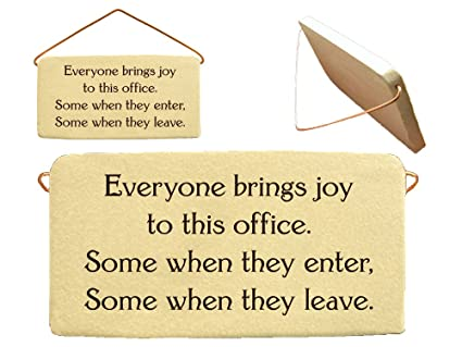 Amazon.com: Everyone brings joy to this office. Some when they enter ...