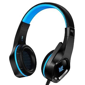 Auriculares Gaming para PS4, Versión mejorada de Cascos ultralivianos,Gaming Headset Estéreo (con micrófono y cancelación de Ruido) ,para PC/Xbox ...