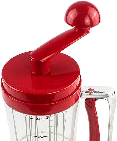 JNP Pancake Batter Dispensador Cupcakes gofres Desayuno Mezclador ...