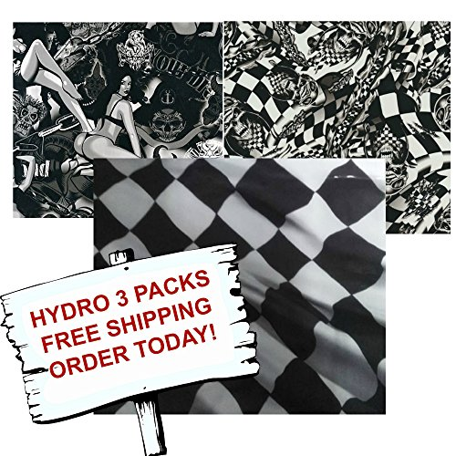 Hydro Dip Hydrographic Film - Water Transfer Printing - Hydro Dipping - RACER PACK- Hydro 3 pack