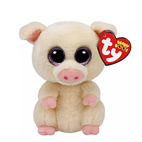 c0b74db6ac8 Amazon.com  Claire s Girl s TY Beanie Boos Small Piglet the Pig Plush Toy  in White  Claire s  Toys   Games
