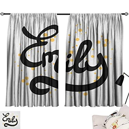 Amazon com: Warm Family Emily Sliding Curtains Hand Drawn Monochrome