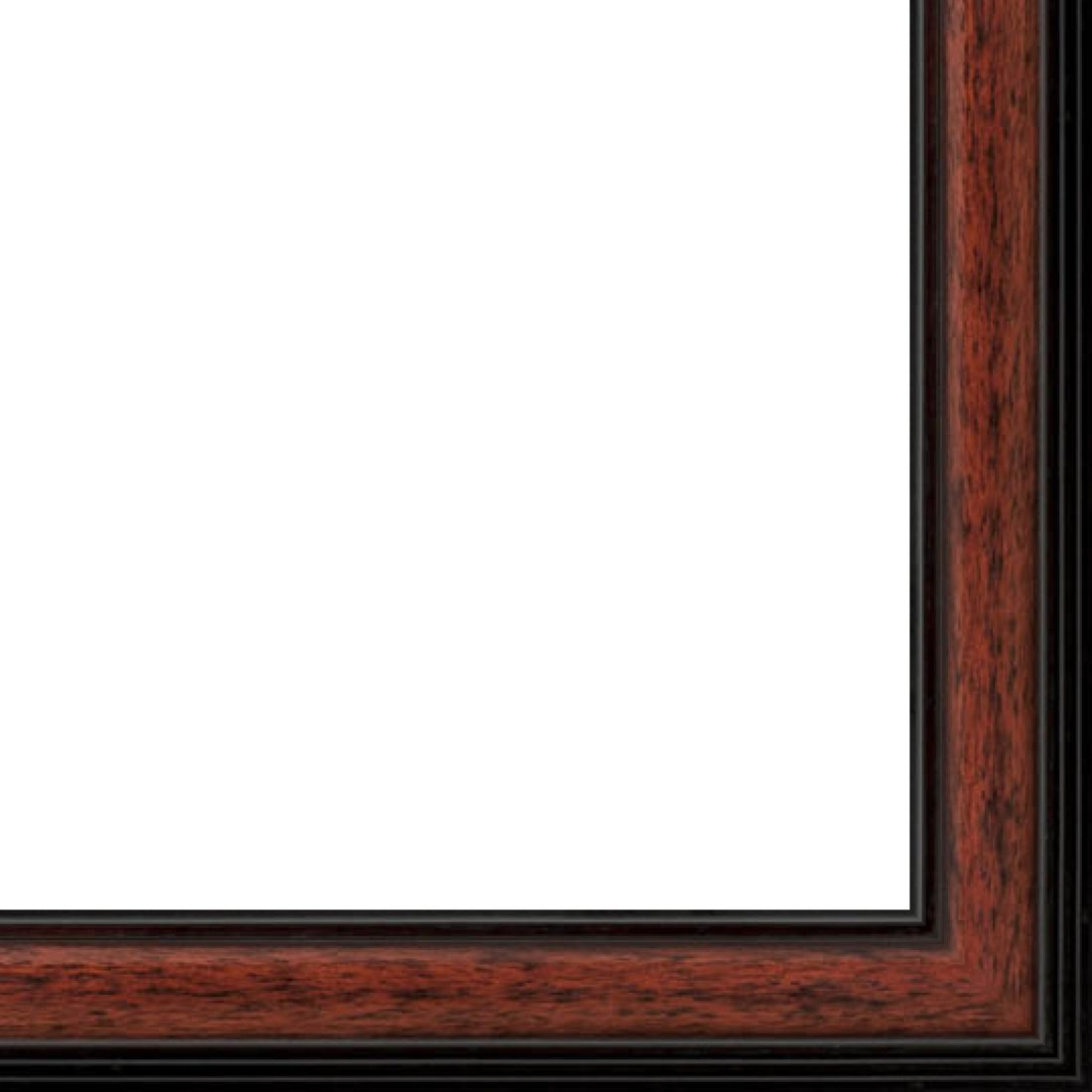 Picture Frame Moulding (Wood) 18ft bundle - Traditional Mahogany Finish - 1.25'' width - 3/8'' rabbet depth