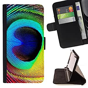 DEVIL CASE - FOR Samsung Galaxy S3 III I9300 - Feather Peacock Colorful Eye Bird Magic - Style PU Leather Case Wallet Flip Stand Flap Closure Cover