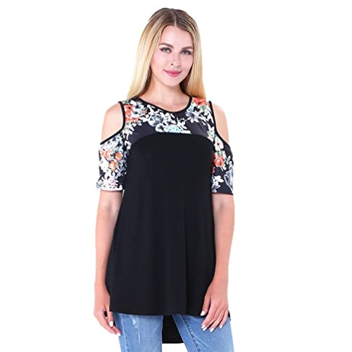 NiSeng Mujeres Casual Camiseta Slim Fit Off Shoulder Manga Corta Cuello Redondo Blusa