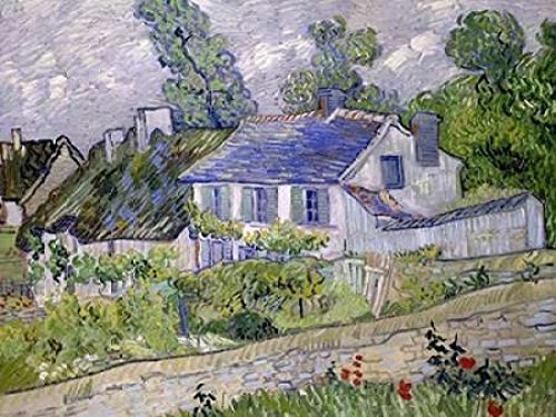 Posterazzi Houses at Auvers Poster Print by Vincent van Gogh (11 x 14)