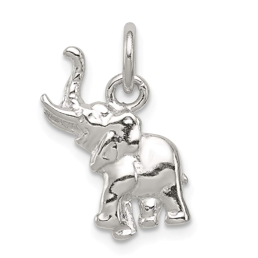 18mm x 10mm Mia Diamonds 925 Sterling Silver Solid Elephant Charm