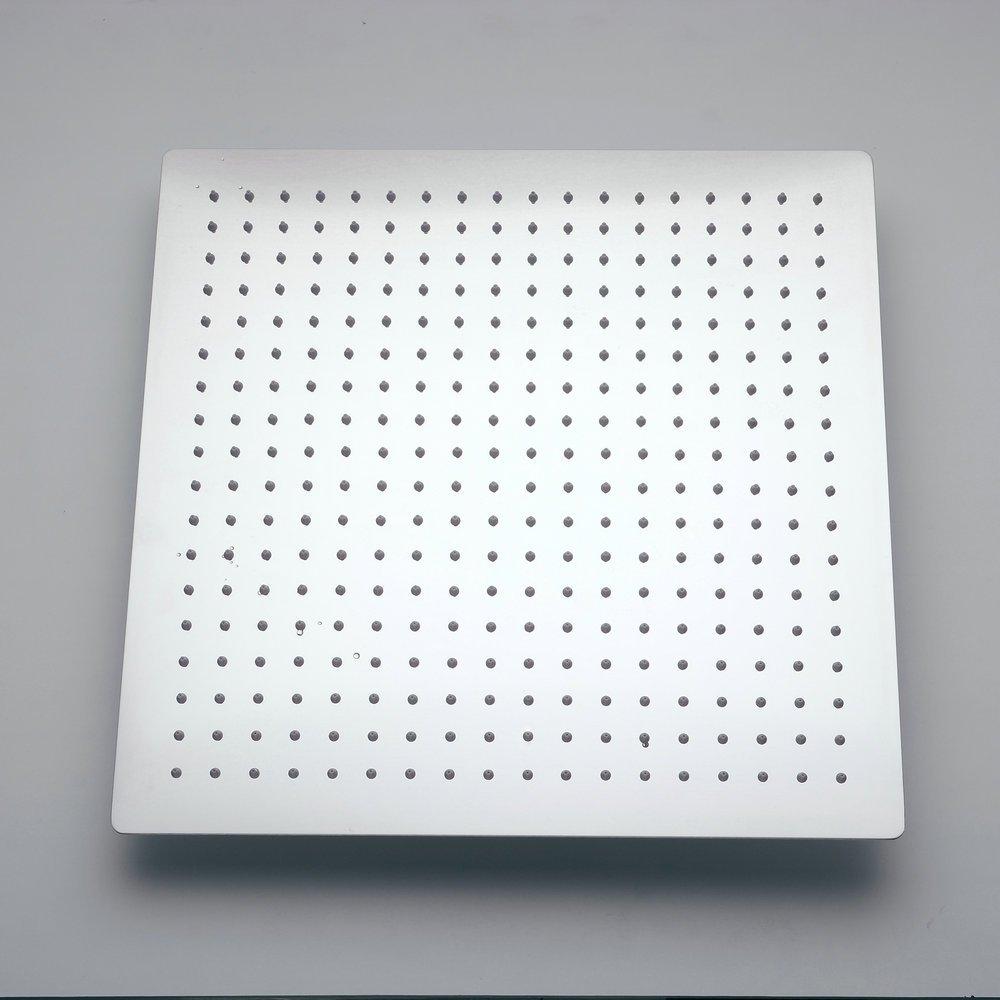 Hiendure/® 10round Ultra 304 Thin Stainless Steel Bathroom Rain Shower Head