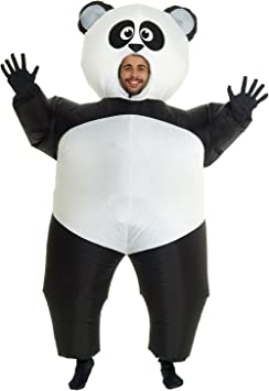 Morph Divertido Disfraz Inflable Animal Adultos Panda - Una talla ...