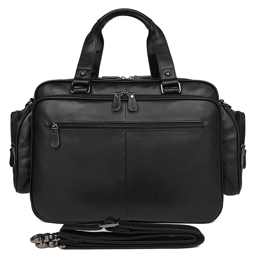 YWY Mens Messenger Bag Portable Briefcase Large Space Leather Tote 16 Computer Bag