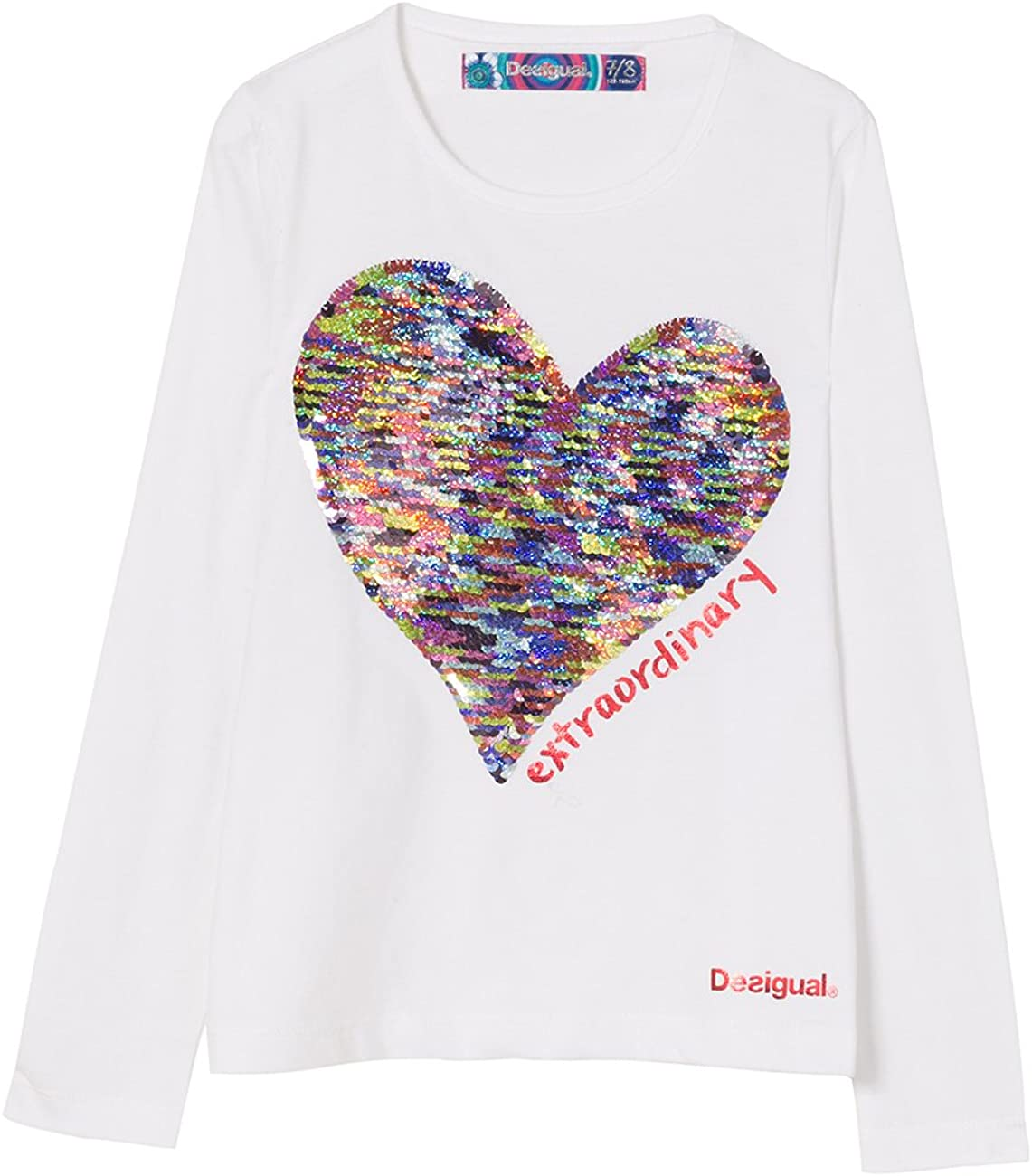 Desigual TS/_Vancouver Camisa Manga Larga para Ni/ñas