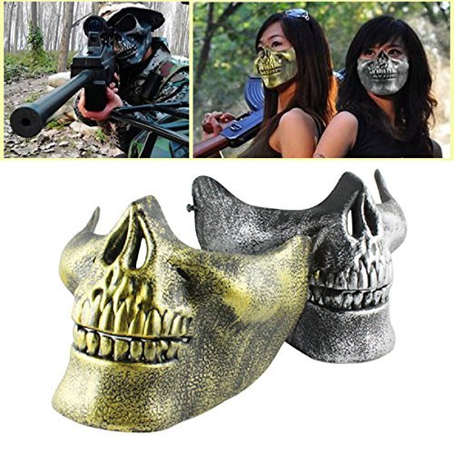 LUQUAN Hot Sale Cs Tactical Retro Skull Mask Half Face Outdoor Sports Mask Cover Halloween Mask -