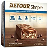 Detour Simple Whey Protein Bar, Chocolate Chip Caramel, 1.1 Ounce, 9 Count For Sale