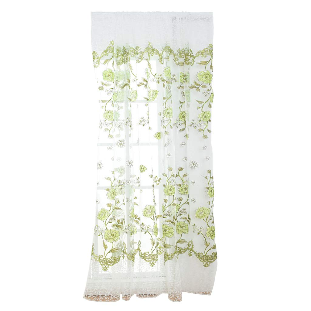 Blesiya Living Room Sheer Curtains Rod Pocket Voile Curtains ~Color/_4