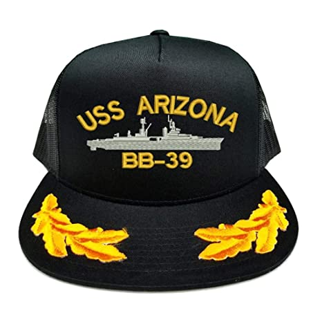 0a38671b39c71 Amazon.com   USS Arizona BB-39 Ship Military Scrambled Eggs Yupoong mesh  Trucker Hat   Sports   Outdoors
