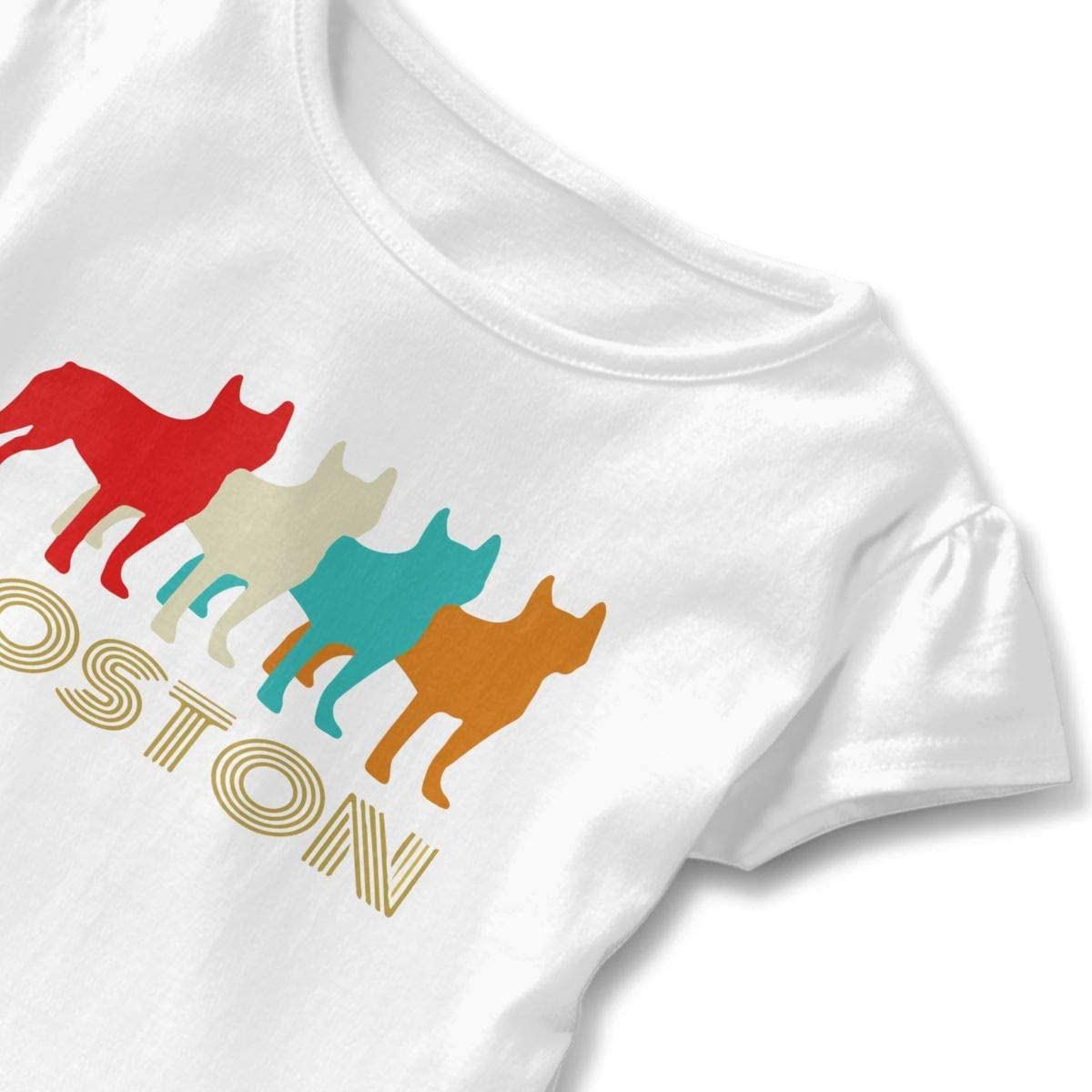 Vintage Boston Terrier Baby Girls Short Sleeve Shirt Clothes