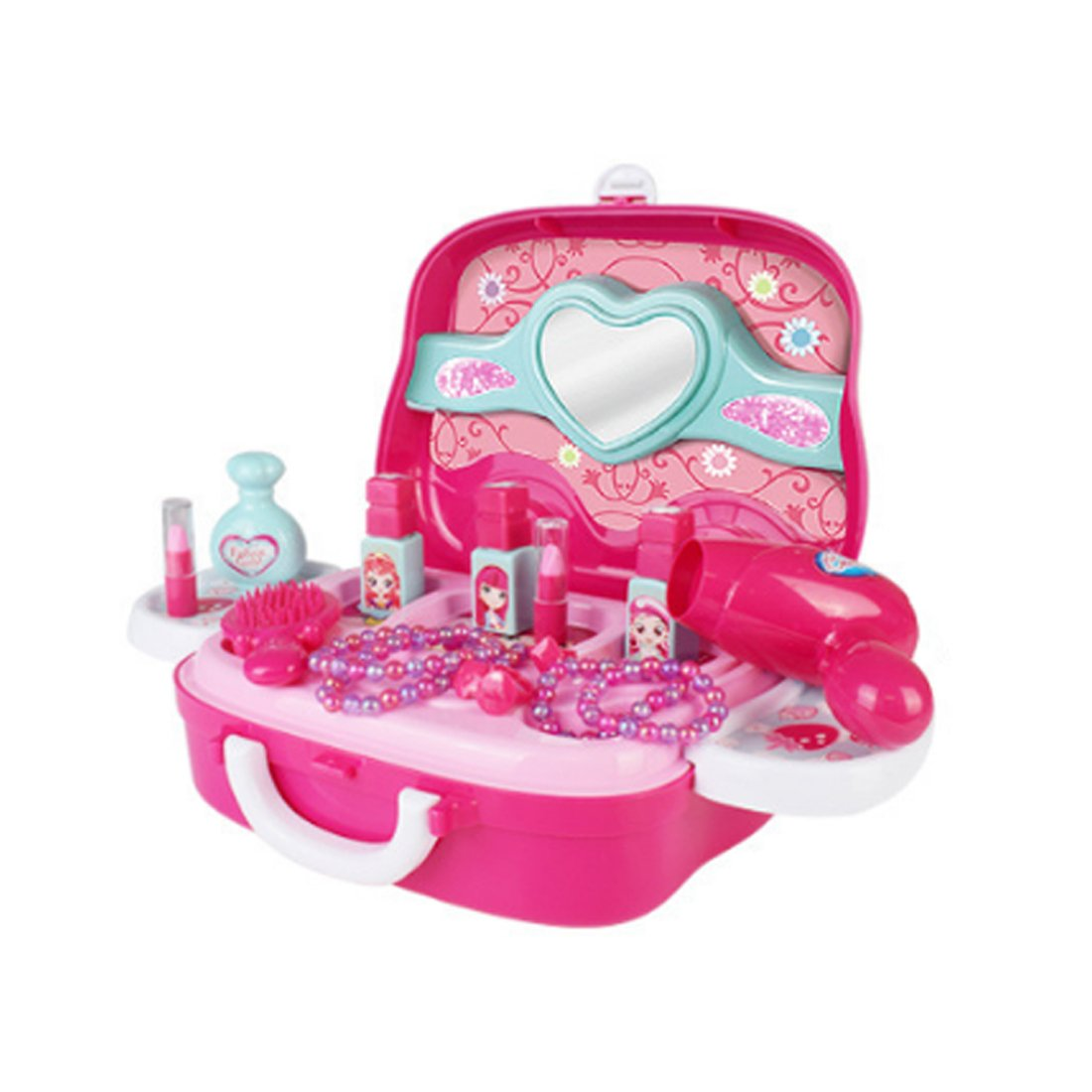 Lingxuinfo Play Pretend Toys Cosmetic and Makeup Set for Children Best Gift Set with Mirror