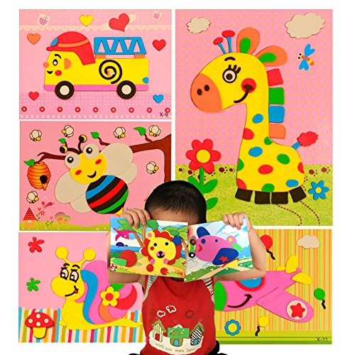 PAVEDGE Mosaic Sticker Art Kits for Kids, Toddler Crafts for 3 to 7 Years Olds, Diy 3D Puzzle Drawing Stickers -