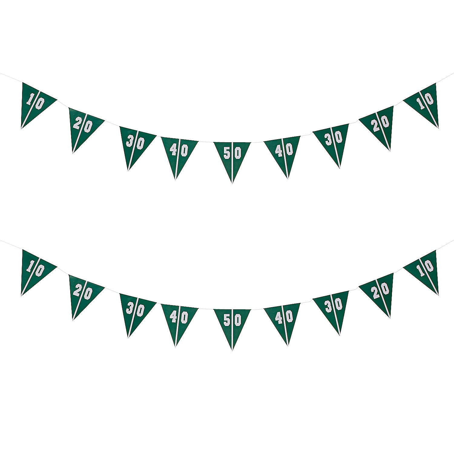 Pack of 2 Touchdown Football Field Pennant Banner Football Party Decorations