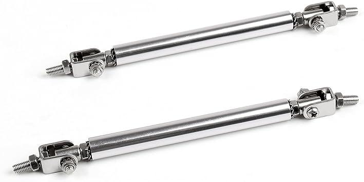 BLK Universal Adjustable Front Rear Frame Bumper Protector Splitter Rod Support