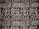 India Arts Primitive Tribal Mud Cloth Tapestry or Spread Cotton 104'' x 104'' Queen Black