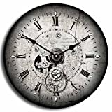 Steampunk Wall Clock, Available in 8 sizes, Most Sizes Ship 2 - 3 days, Whisper Quiet.