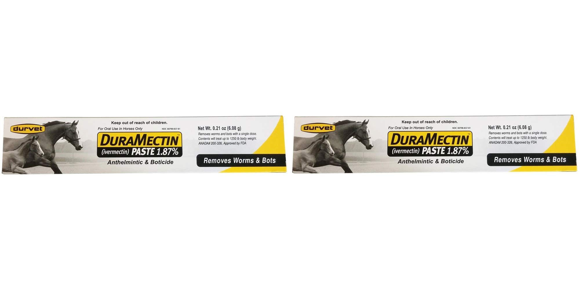 Duramectin Ivermectin Paste 1.87% for Horses, 0.21 oz (Twо Pаck)