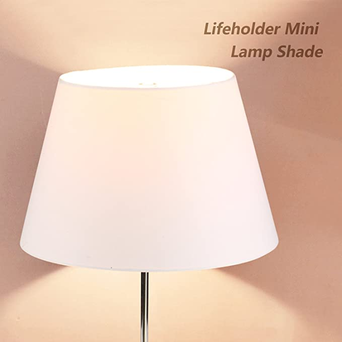 5a9f0a29d46 Lamp Shade IMISI Desk Lamp Table Lamp Shade Linen Fabric White Reading Lamp  Shades 7.9 X 7.5 X 11.8 Inch Dining Standing White (one-Pack) - - Amazon.com