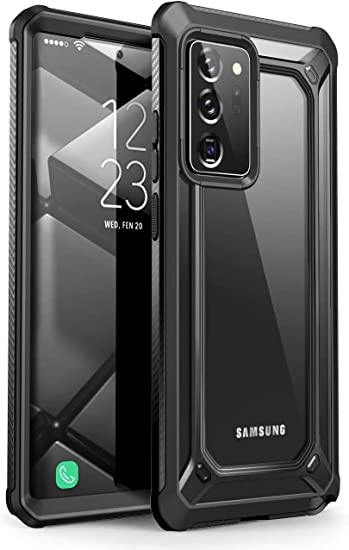Supcase Transparent Case For Samsung Galaxy Note 20 Ultra 6 9 Inches 5g Mobile Phone Bumper Case Transparent Protective Cover Unicorn Beetle Exo Without Screen Protector 2020 Edition Black Elektronik
