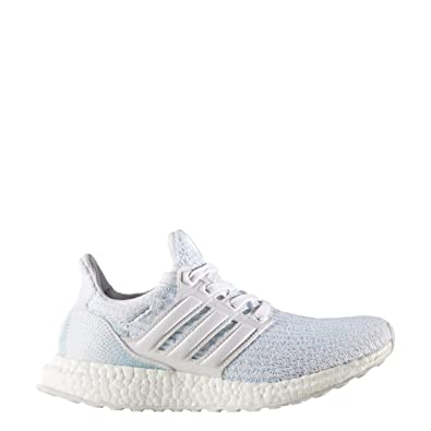 Amazon.com | Adidas Ultra Boost parley jr Running Shoes, White White Ice  Blue, Size 7 | Running