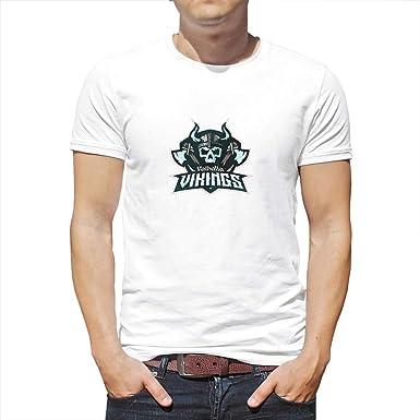 XHJQ88 - Camiseta de Manga Corta para Hombre, diseño con Estampado de Vikingo: Amazon.es: Ropa y accesorios