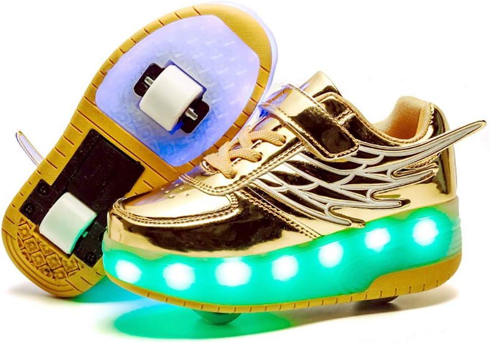 ONEKE - Zapatillas con Ruedas para niños y niñas, con Carga USB, con Ruedas LED, para Patinar o Correr, Zapatillas Deportivas de Patinaje para Principiantes: Amazon.es: Deportes y aire libre