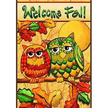 This Item Toland Home Garden Fall Owls 12.5 X 18 Inch Decorative  USA Produced Small Garden Flag 119684