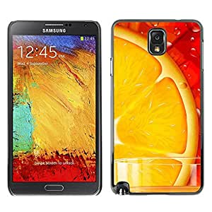 LECELL -- Funda protectora / Cubierta / Piel For Samsung Galaxy Note 3 N9000 N9002 N9005 -- Fresh Orange --