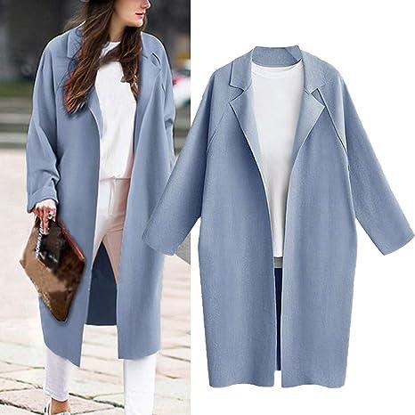 93eb6e62b27 Amazon.com  Gallity Women s Lapel Outerwear Loose Coat Trench Coat Long  Cardigan Tops (XL