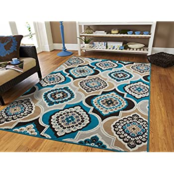 Amazon Com Modern Rugs For Living Room Cream Rug 5 By 8