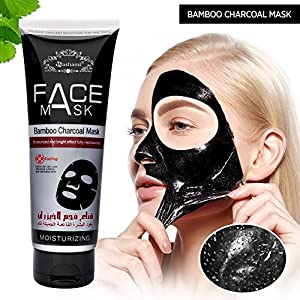 AsaVea Active Charcoal black Mask for blackheads and facial purifying- Collagen& Charcoal Black Mask 120 g