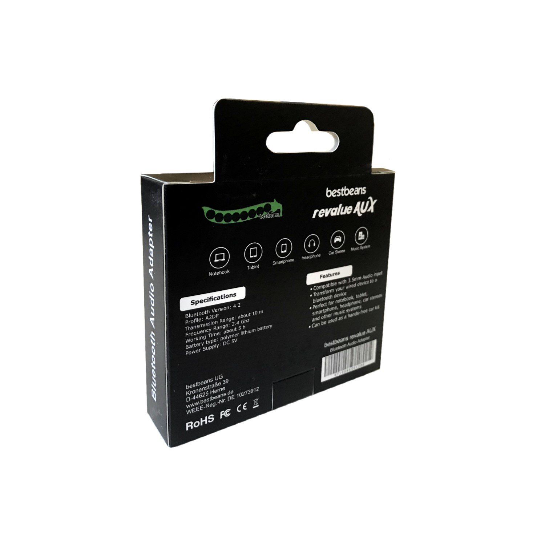 bestbeans revalue AUX Adaptador Bluetooth Receptor: Amazon.es: Electrónica