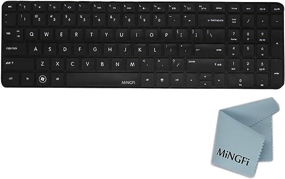 MiNGFi Silicone Cubierta del Teclado/Keyboard Cover Skin para HP Pavilion New DV6 G6 with Number Key Disposición de teclados de Modo Estadounidense - ...