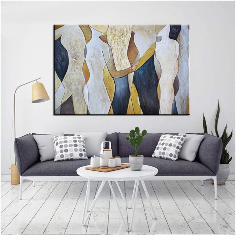 yhyxll Pinturas de Estilo Medieval Abstracto Lienzo Cuadros Decorativos de Pared Decoración del hogar Decoración de la Sala de Estar Imprimir en lienzo-60x90cm Sin Marco