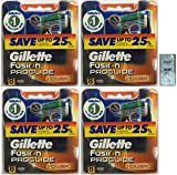 GlLLETTE Fusion Proglide Power Refill Cartridge Blades, 32 Count (4 Packs of 8) (Made in Germany) w/ Free Loving Care Trial Size Conditioner