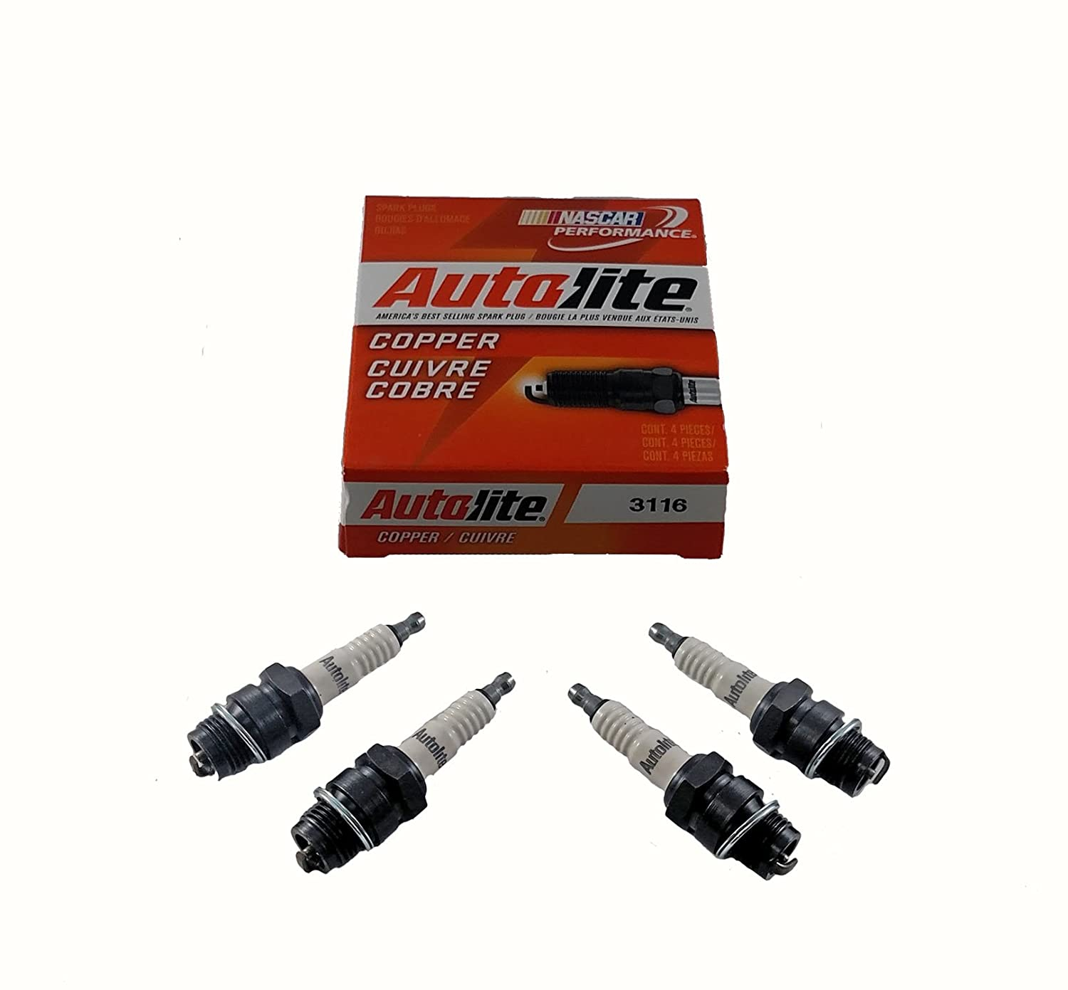 4 pack of Spark Plugs Autolite 386 for International Farmall IHC Tractors