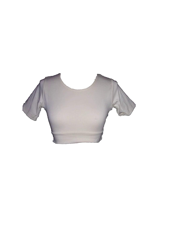 Halftee Nursing 3//4 Sleeve Layering Built in Bra Reversible Scoop Neck Tee Shirt